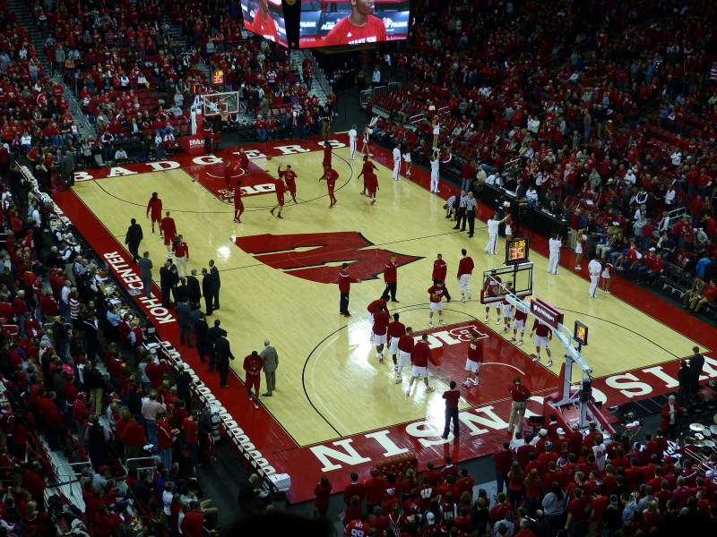 Seating view for Kohl Center Section 317 Row D Seat 6