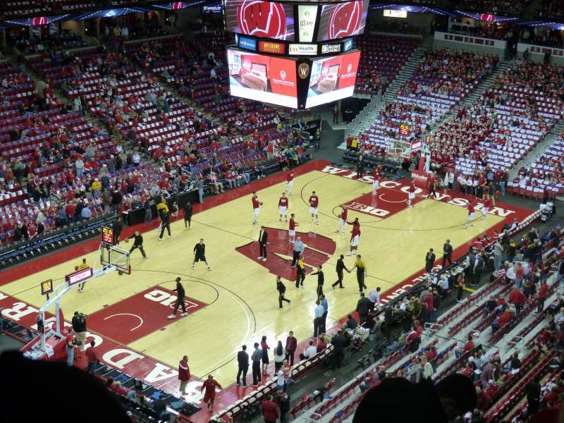 Seating view for Kohl Center Section 326 Row G Seat 10
