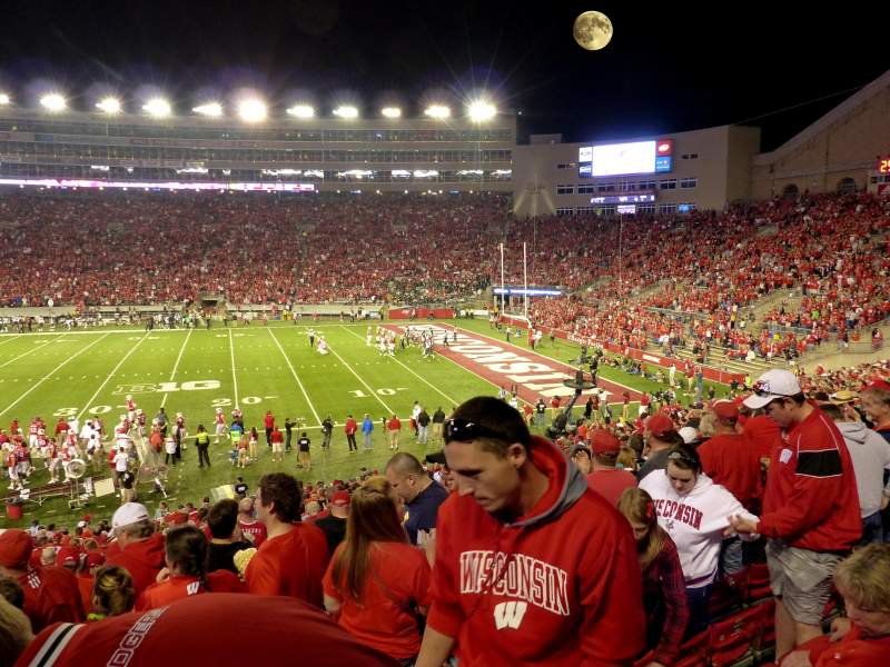Seating view for Camp Randall Stadium Section c Row 38 Seat 31