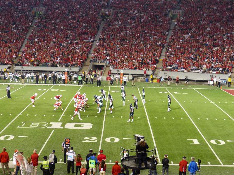 Seating view for Camp Randall Stadium Section C Row 38 Seat 28