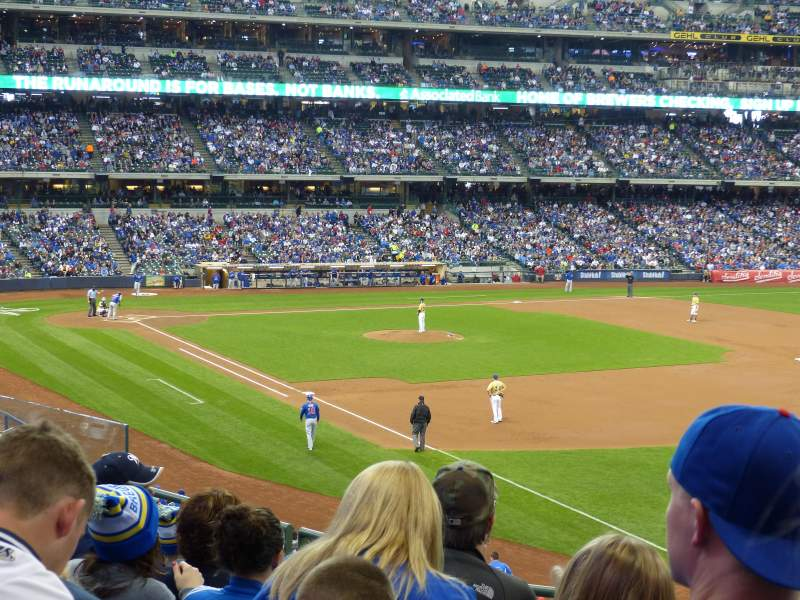 Seating view for Miller Park Section 208 Row 7 Seat 17