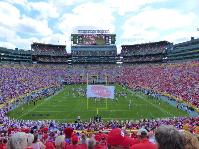 Lambeau Field Section 100 Row 49 Seat 15 Wisconsin