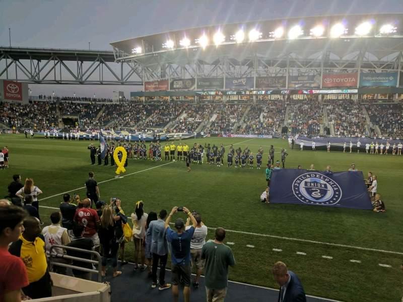 Talen Energy Stadium, section: 106, row: E, seat: 10