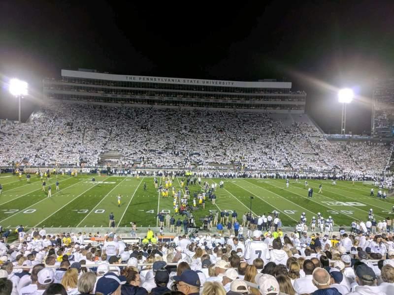 Beaver Stadium, section: WF, row: 18, seat: 17