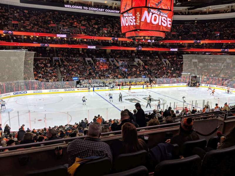 Seating view for Wells Fargo Center Section CB11 Row 4 Seat 13