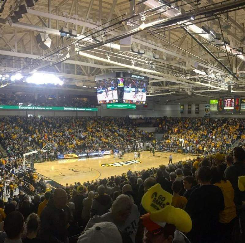 Seating view for Stuart C. Siegel Center Section 28 Row U Seat 3
