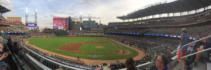 Seating view for Truist Park Section 231 Row 2 Seat 2