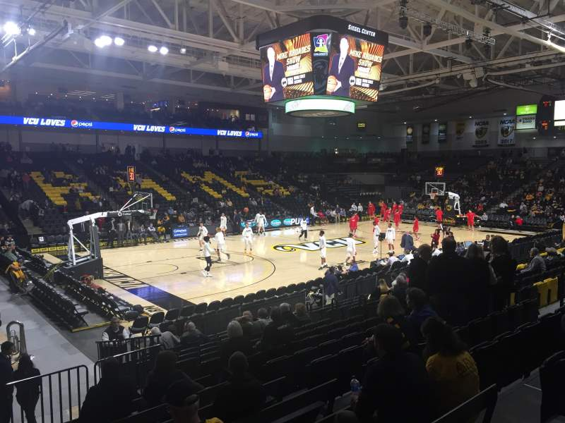 Seating view for Stuart C. Siegel Center Section 27 Row N Seat 9