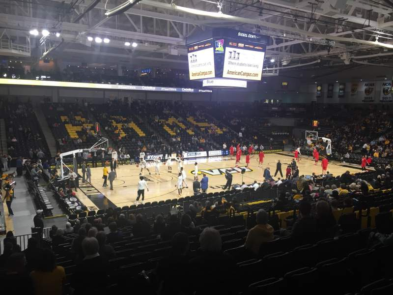 Seating view for Stuart C. Siegel Center Section 27 Row U Seat 3