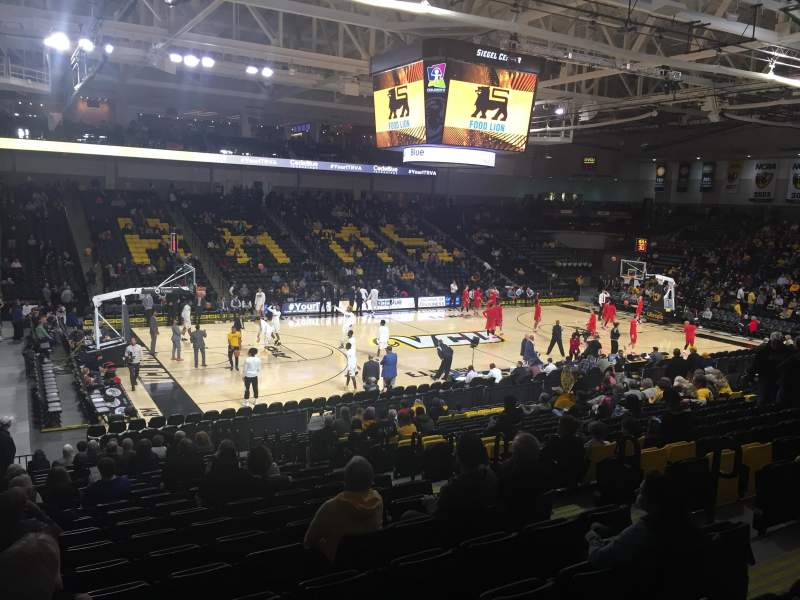 Seating view for Stuart C. Siegel Center Section 26 Row U Seat 6