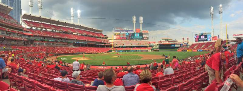 Seating view for Great American Ball Park Section 129 Row V Seat 7