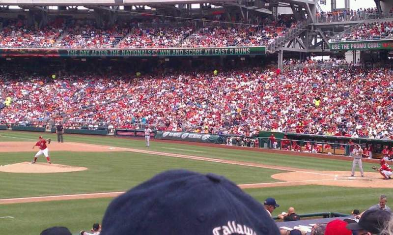 Seating view for Nationals Park Section 115 Row z Seat 9