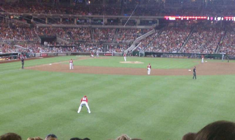 Seating view for Nationals Park Section 140 Row R Seat 7