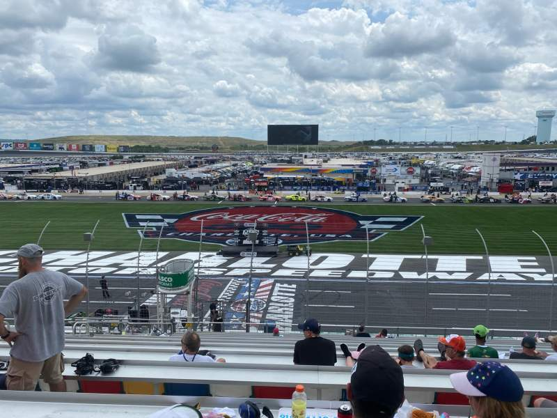 Seating view for Charlotte Motor Speedway Section GM E Row 25 Seat 32