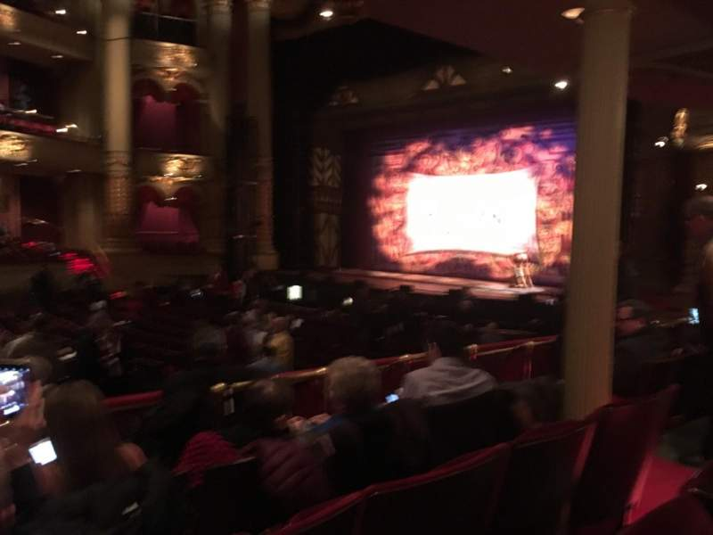 Academy of Music, section: B, row: W, seat: 46