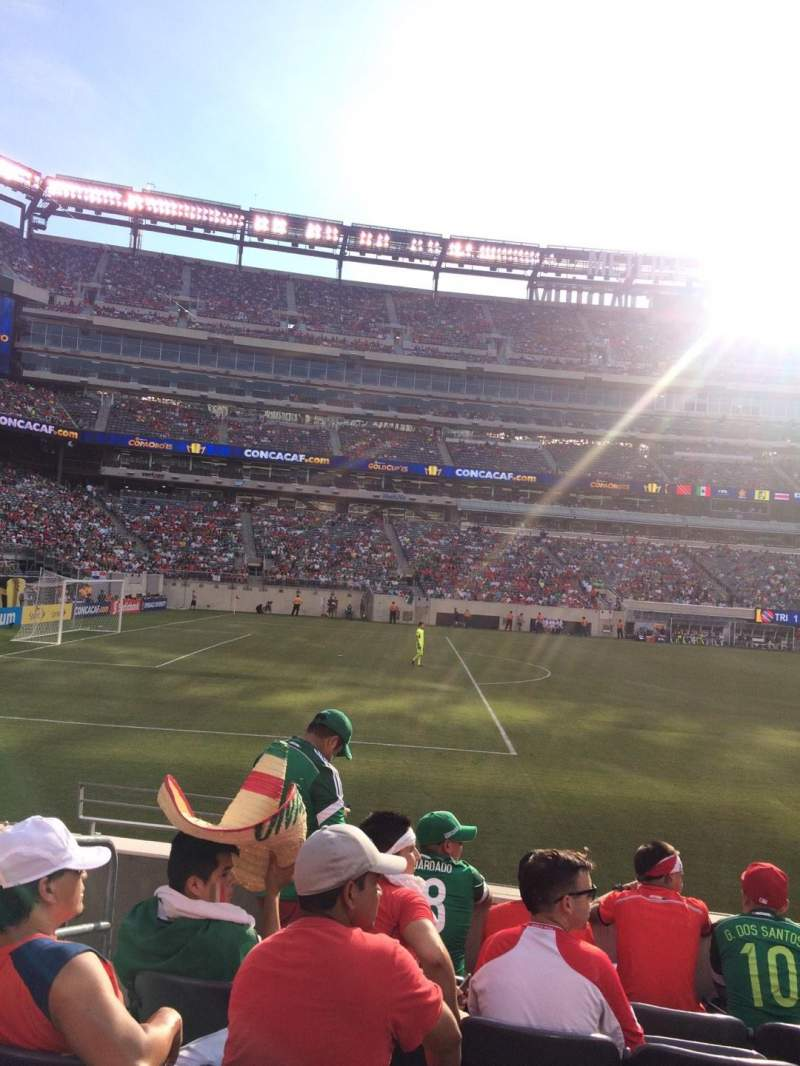 Seating view for MetLife Stadium Section 116 Row 6 Seat 15-16