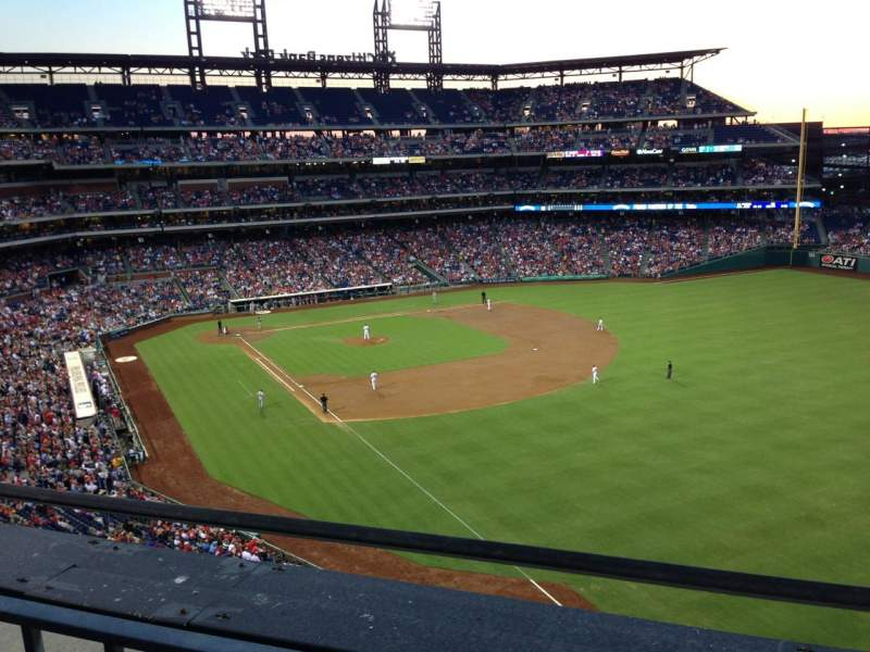 Seating view for Citizens Bank Park Section 308 Row 1 Seat 6