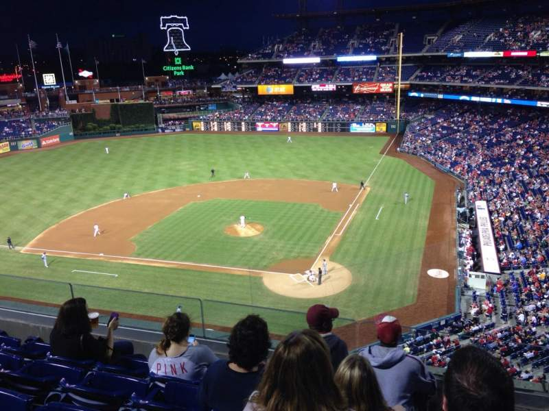 Seating view for Citizens Bank Park Section 323 Row 5 Seat 2