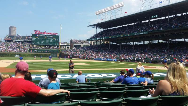 Seating view for Wrigley Field Section 14 Row 9 Seat 109