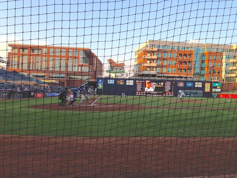 Seating view for Durham Bulls Athletic Park Section 106 Row B Seat 1