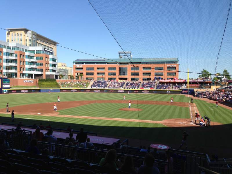 Seating view for Durham Bulls Athletic Park Section 205 Row R Seat 1