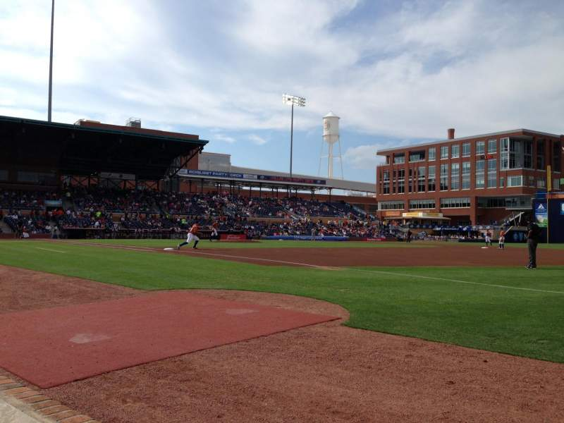 Seating view for Durham Bulls Athletic Park Section 116 Row A Seat 24