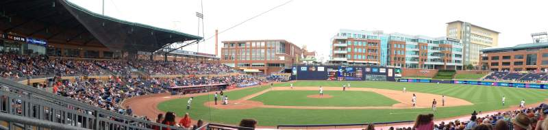Seating view for Durham Bulls Athletic Park Section 208 Row R Seat 2