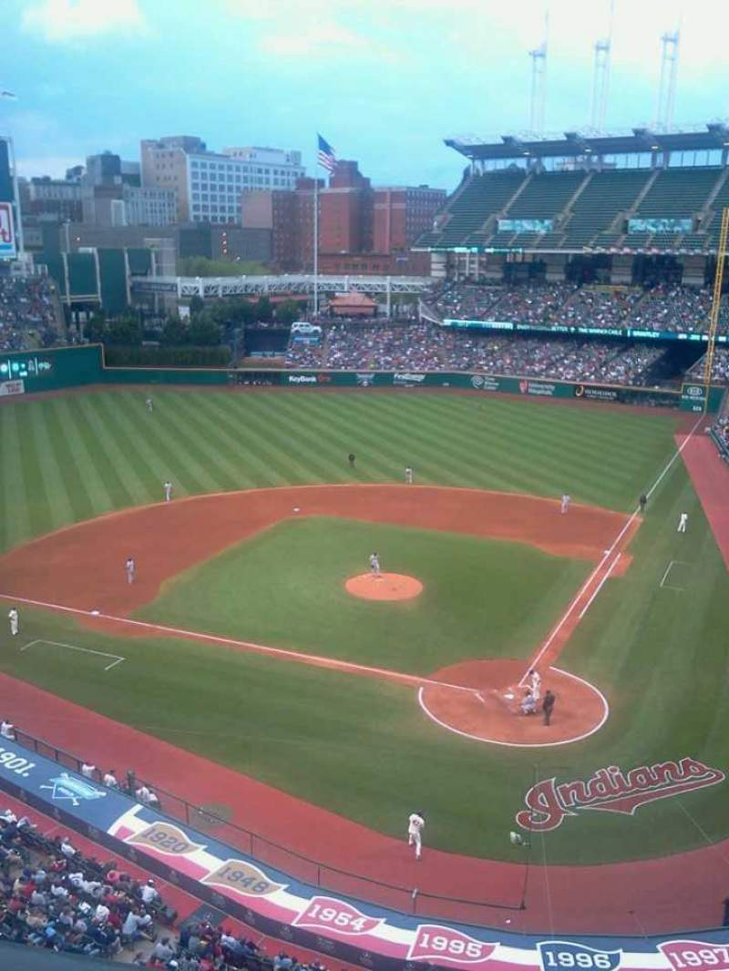 Seating view for Progressive Field Section 457 Row A Seat 3