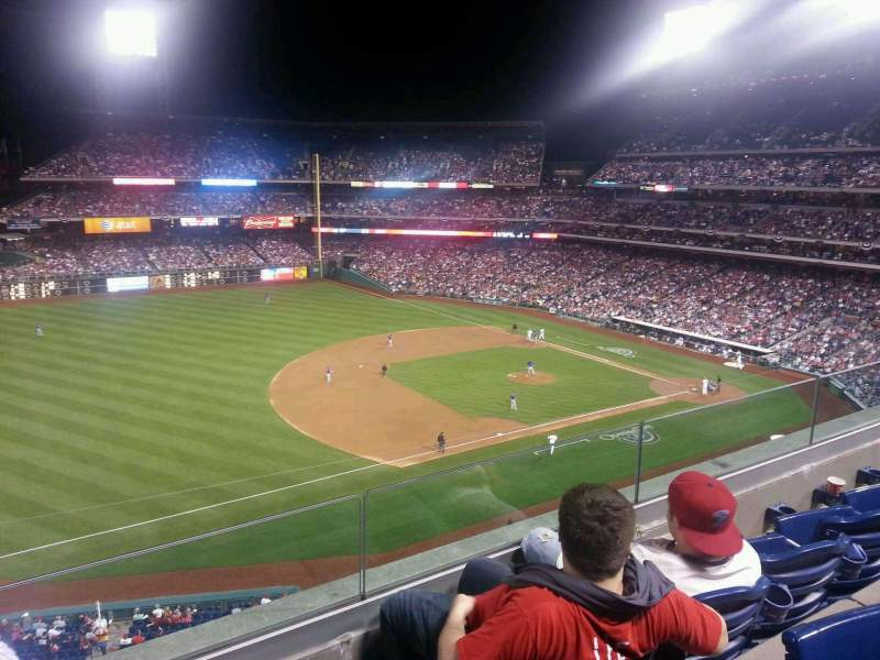 Seating view for Citizens Bank Park Section 329 Row 3 Seat 17