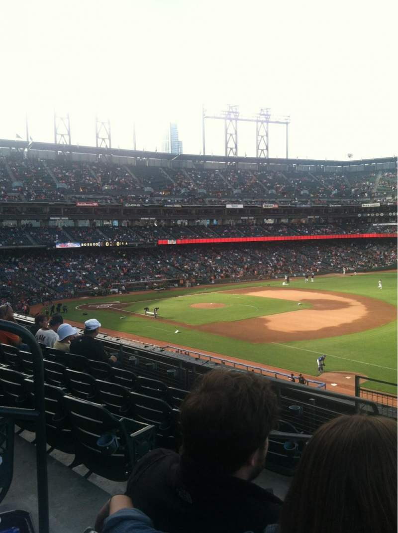 Seating view for AT&T Park Section 202 Row E Seat 10