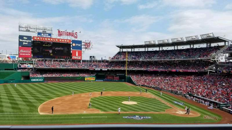 Seating view for Nationals Park Section 208 Row A Seat 7