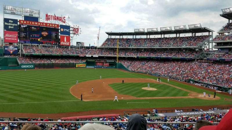 Seating view for Nationals Park Section 207 Row C Seat 18