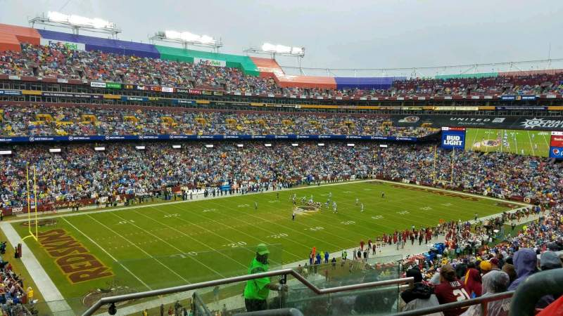 Seating view for FedEx Field Section 306 Row 17 Seat 1
