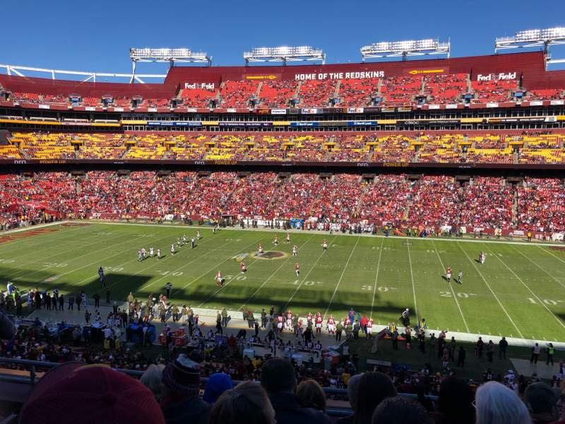 Seating view for FedEx Field Section 341 Row 5 Seat 9