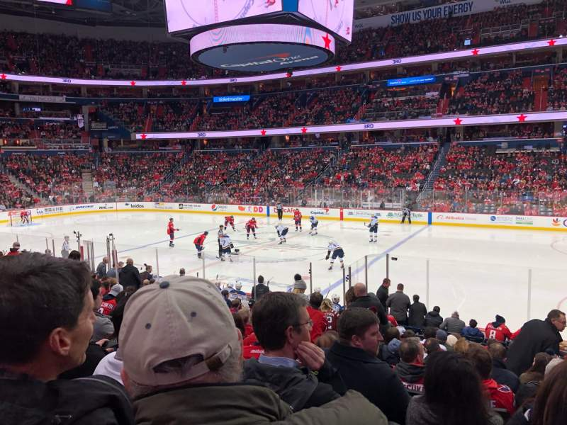 Seating view for Capital One Arena Section 101 Row Q Seat 19