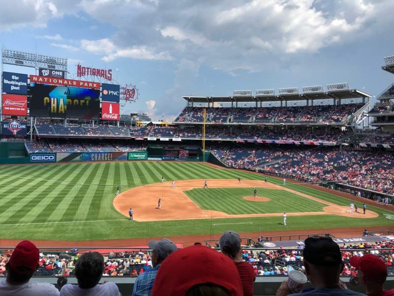 Seating view for Nationals Park Section 207 Row D Seat 16