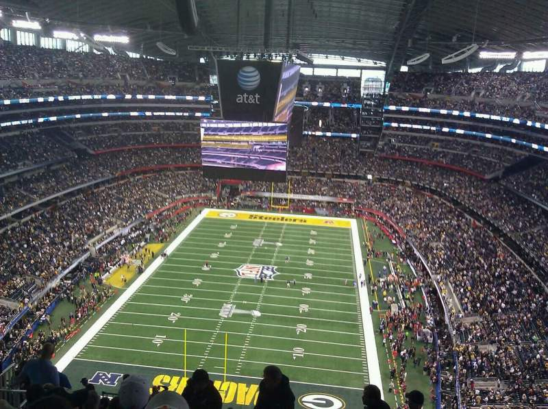Seating view for AT&T Stadium Section 426 Row 23 Seat 10