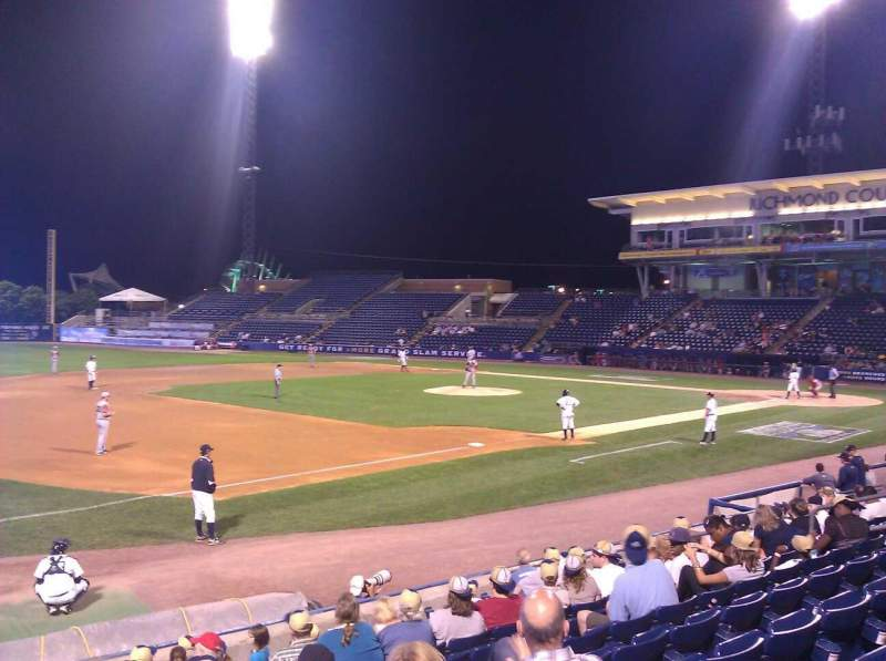 Seating view for Richmond County Bank Ballpark Section 4 Row L Seat 15