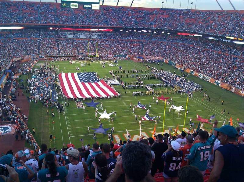 Seating view for Hard Rock Stadium Section 430 Row 19 Seat 23