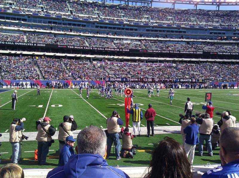 Seating view for MetLife Stadium Section 142 Row 3 Seat 29
