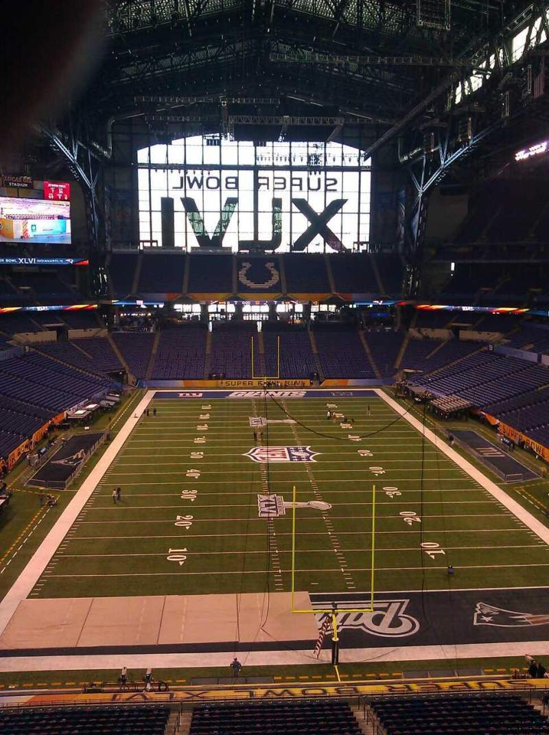 Seating view for Lucas Oil Stadium Section Press Box