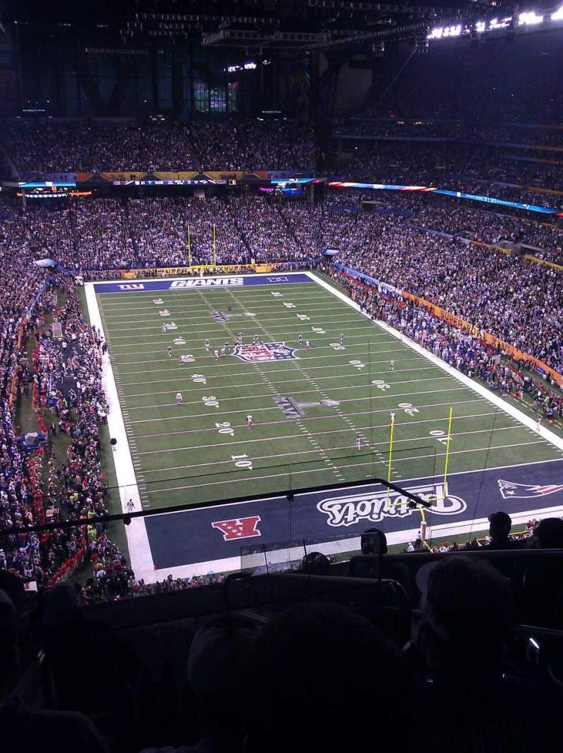 Seating view for Lucas Oil Stadium Section 629 Row 7 Seat 3