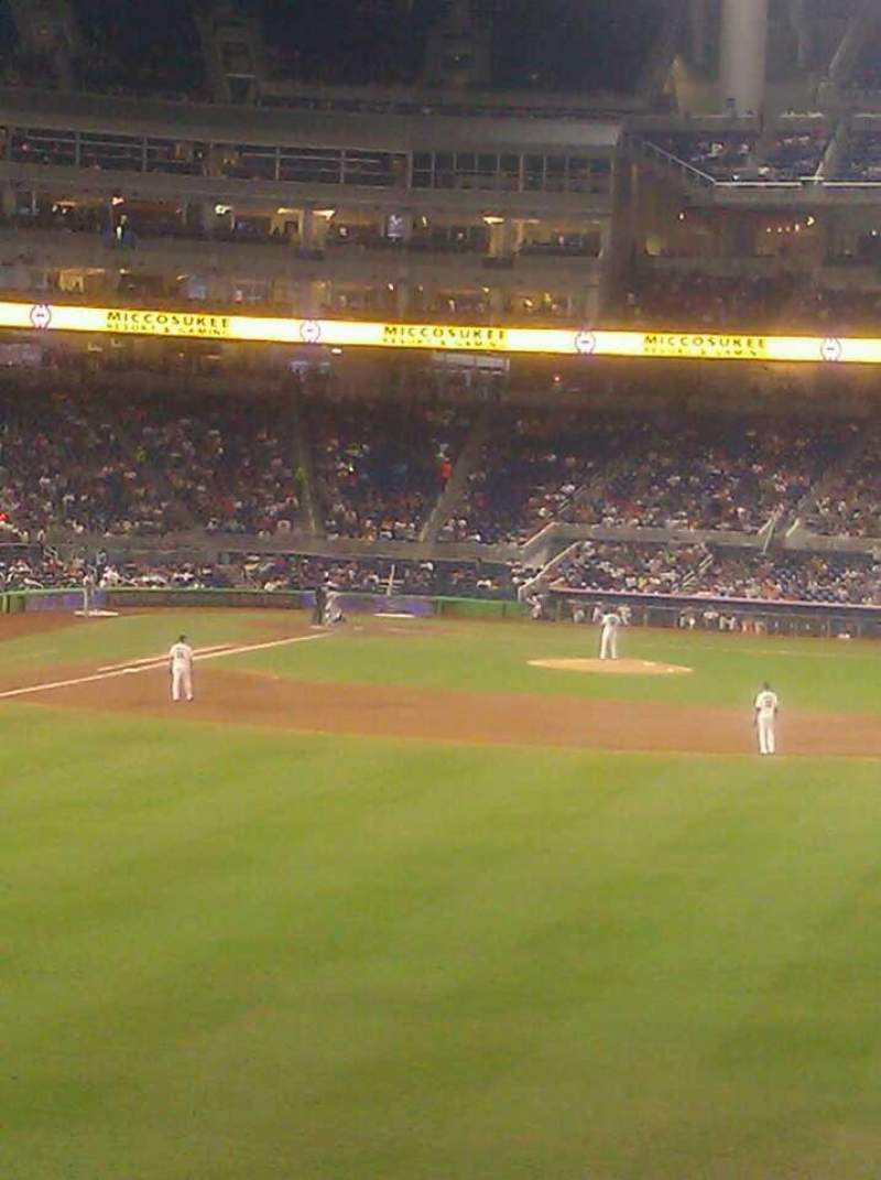 Seating view for Marlins Park Section 39 Row 2 Seat 1