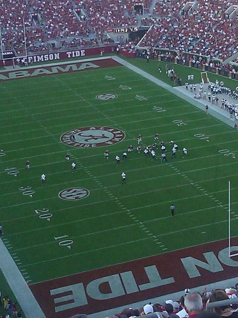 Seating view for Bryant-Denny Stadium Section SS-11 Row 29 Seat 7