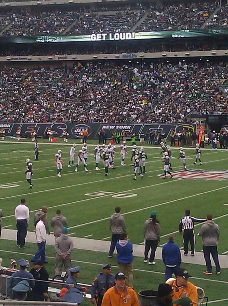 Seating view for MetLife Stadium Section 135 Row 15 Seat 29