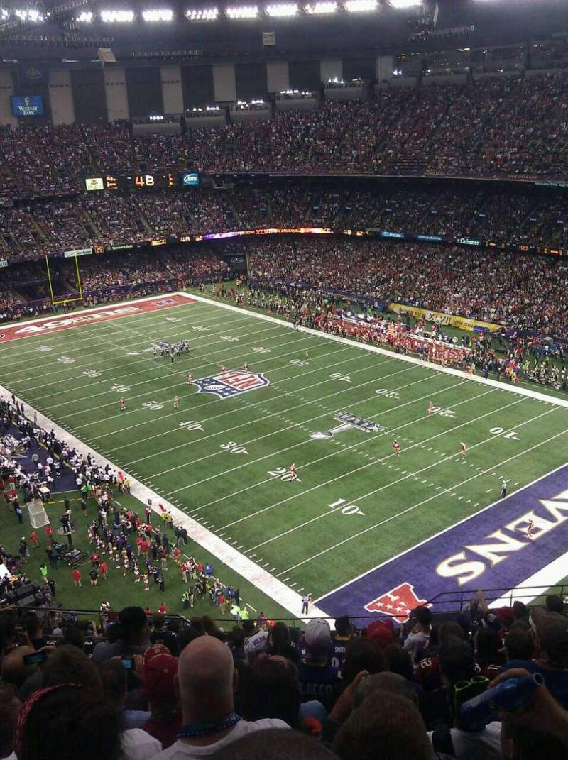 Seating view for Mercedes-Benz Superdome Section 606 Row 23 Seat 15
