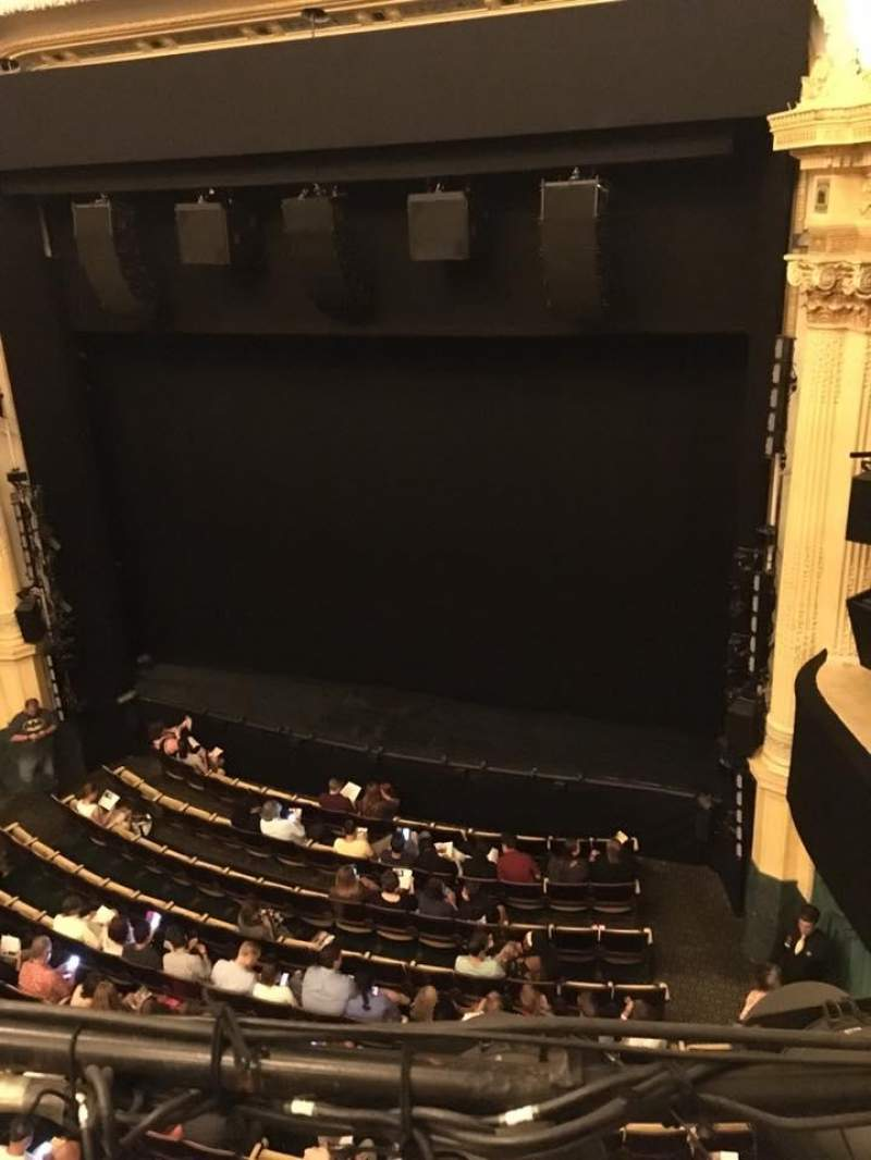 Seating view for Hudson Theatre Section Balcony Row A Seat 6