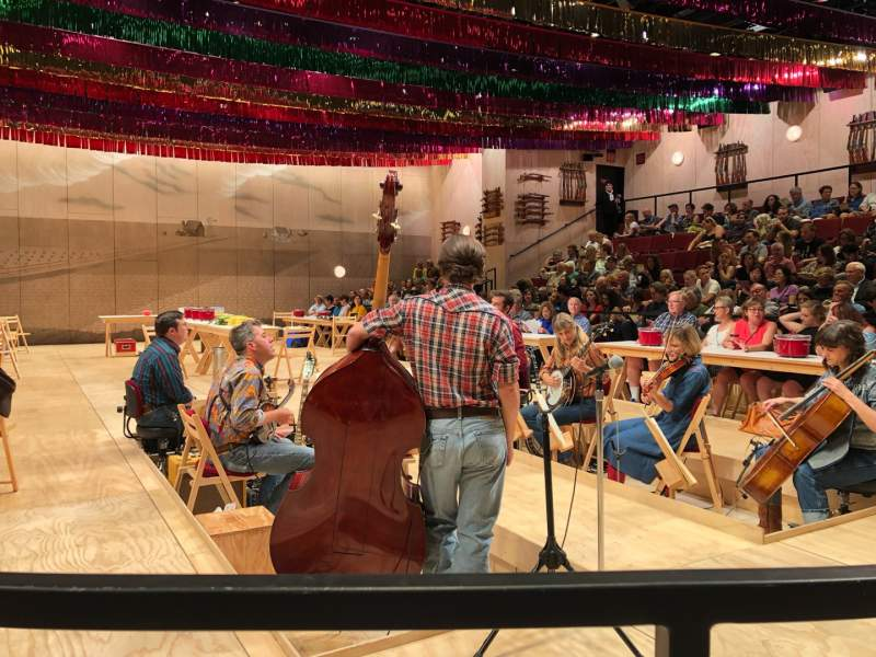 Seating view for Circle in the Square Theatre Section Orchestra 100 (Odd) Row B Seat 105