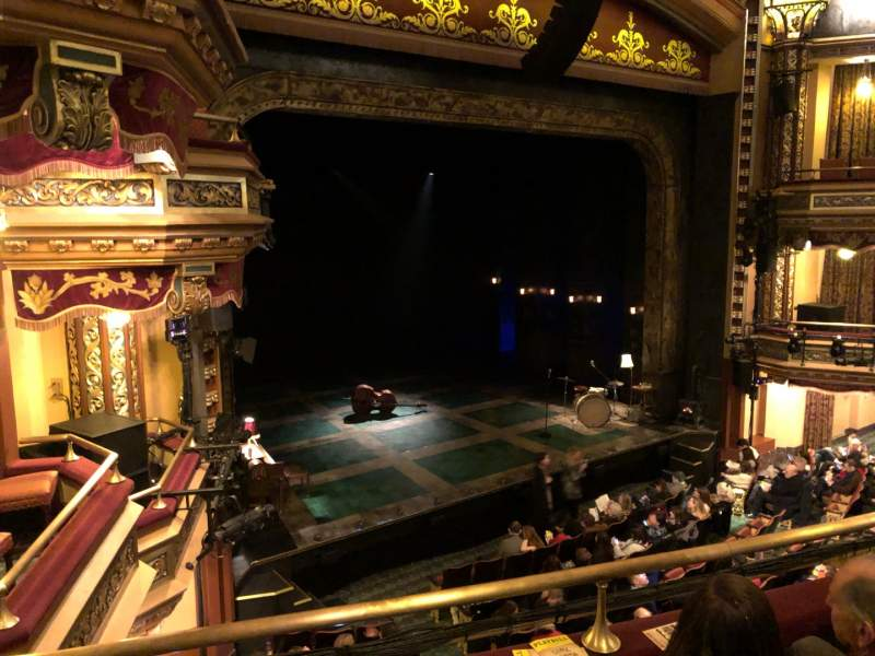 Seating view for Belasco Theatre Section Mezzanine L Row C Seat 19