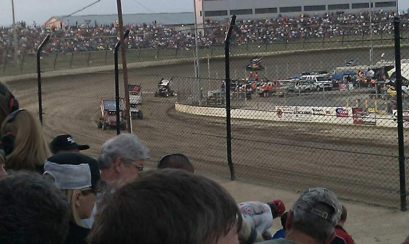 Seating view for Eldora Speedway Section D Row 20 Seat 1
